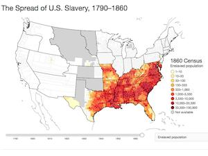 External Databases Yale Slavery And Abolition Portal - Map-of-us-in-1790